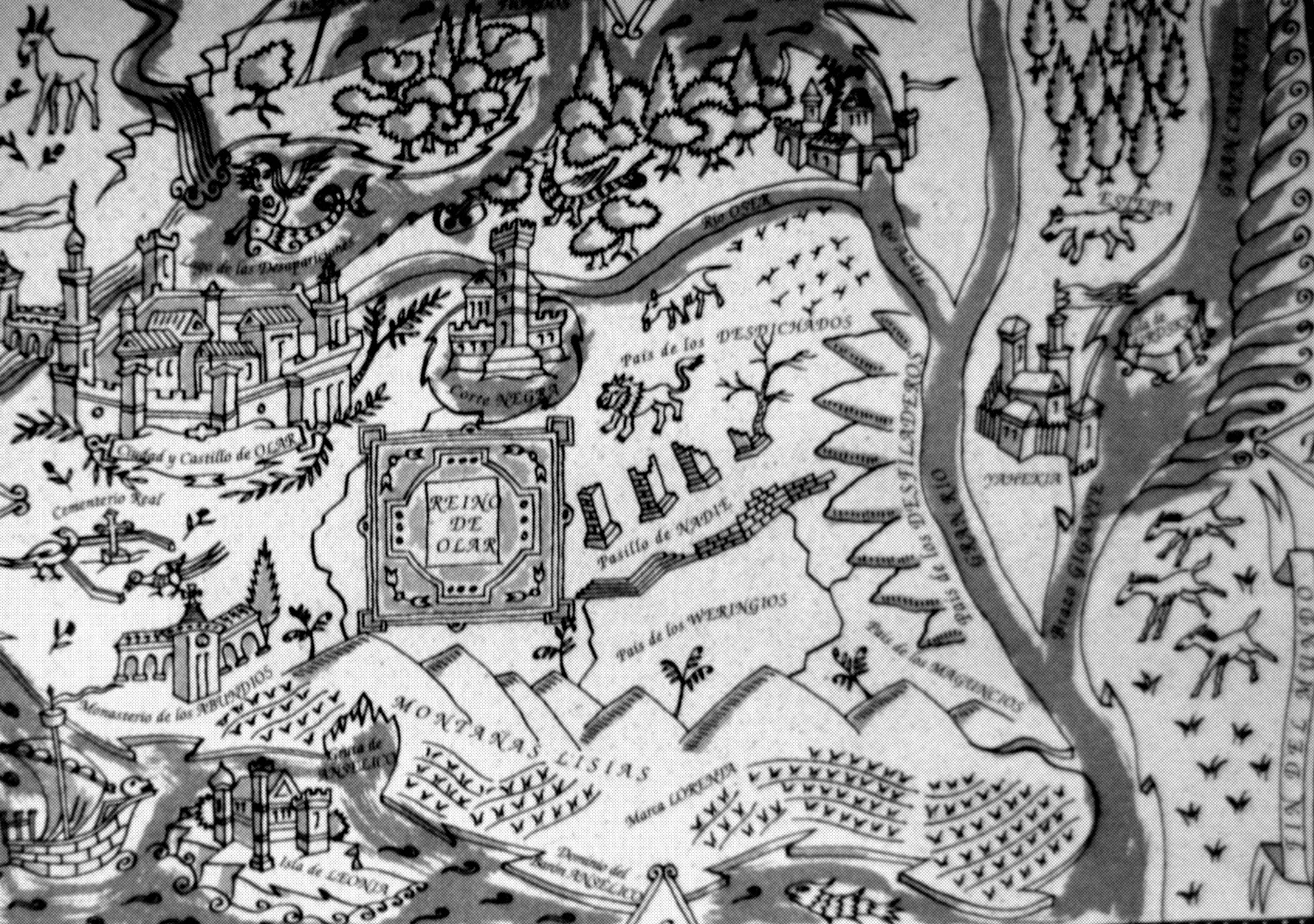 Mapa del reino de Olar