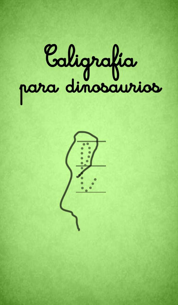 Caligrafía para dinosaurios